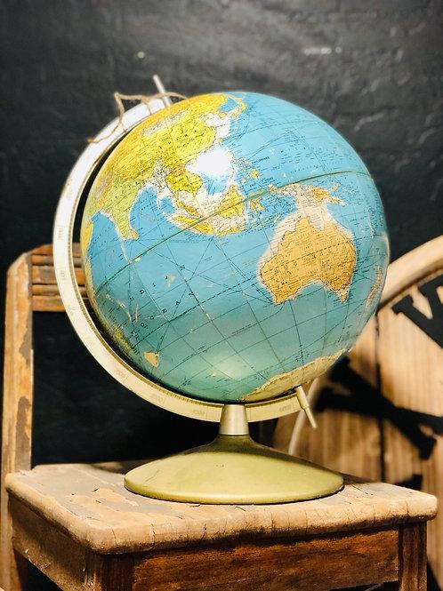 Vintage globe with metal base