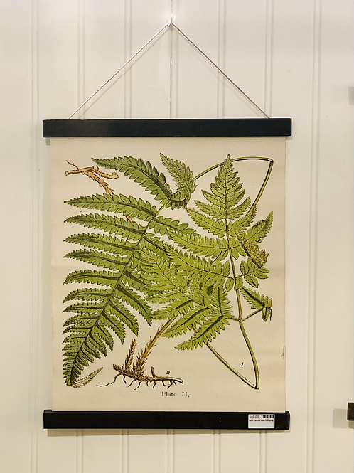 Fern canvas wall hanging