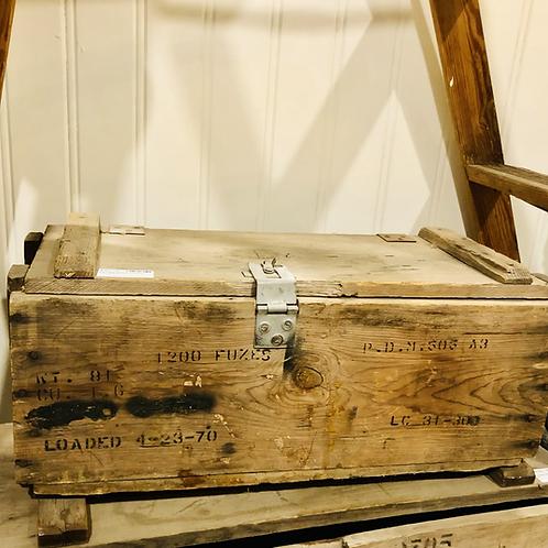 1970's wooden ammo box