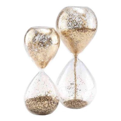Reloj arena dorado