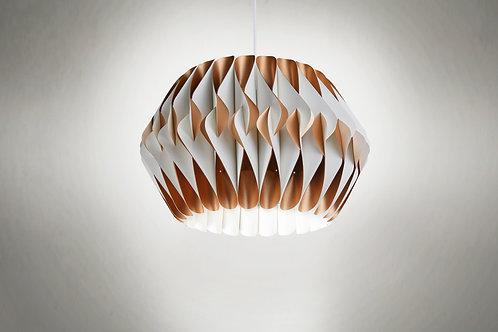 Lámpara Capullo blanco y cobre