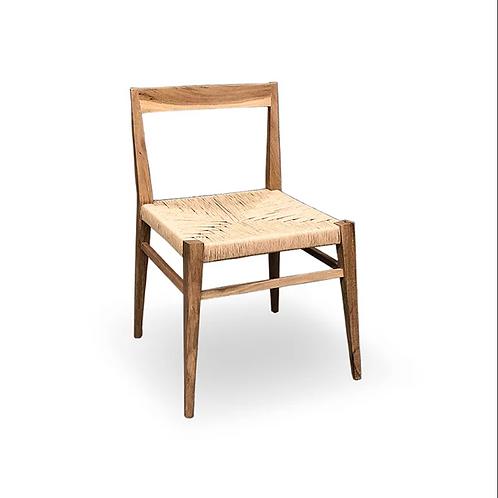 Silla Maité con asiento tejido