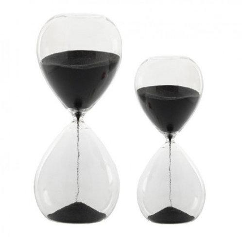 Reloj arena negro