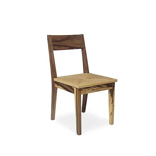 Silla Piet con asiento tejido