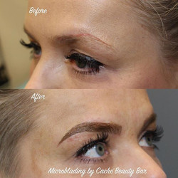 Merry stopped by for her #microblading brow transformation. She had a very old permanent #browtattoo