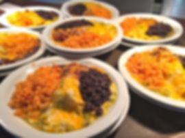 Christmas Enchilada Plate