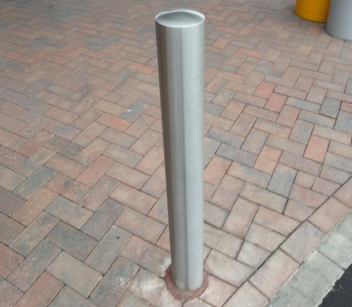restored and protected bollards