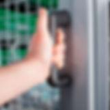 touch plastic coated door handles protec