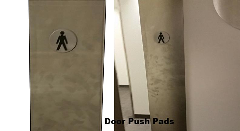 fingerprints on toilet door Touch