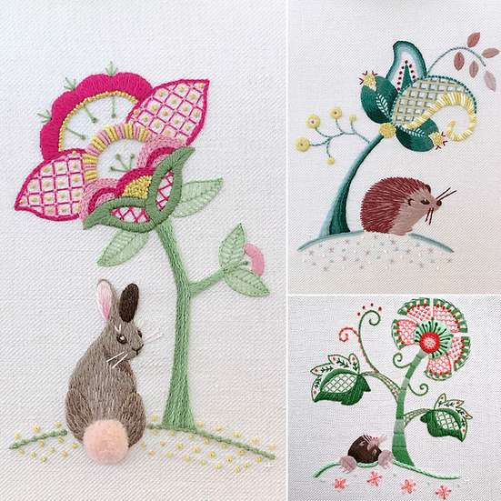 Woodland Collection: Hedgehog, Rabbit & Mole