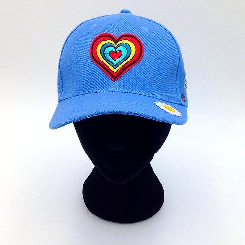 RAINBOW HEART CAP