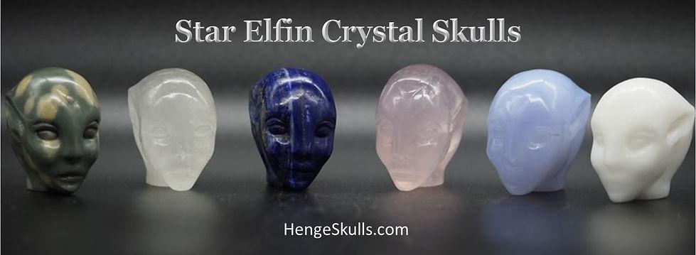 Star Elfin Crystal Skull. HengeSkullsAve