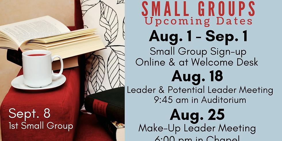 Small Group Sign-ups