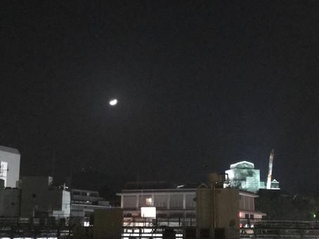 お月様と。🌙