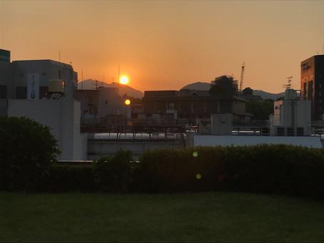 夕陽が美しい
