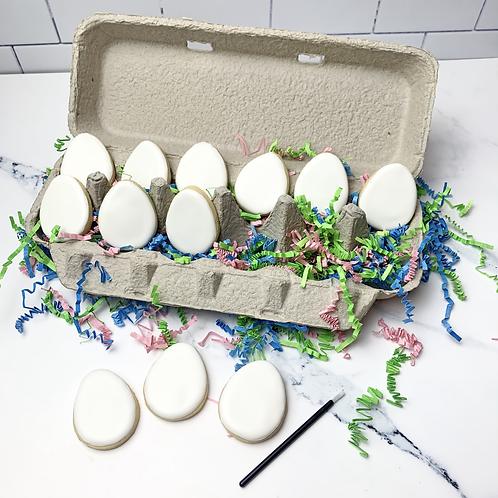 1 Dozen PYO Easter Egg Cookies