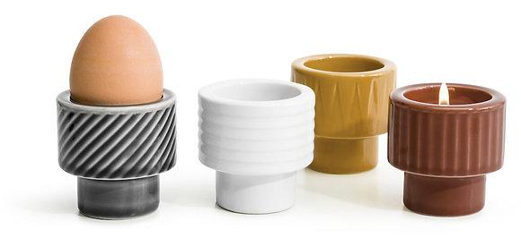 Coffee & More æggebæger/lysestage - Flere farver