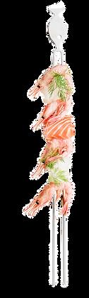 BBQ grillspyd til fisk - 4-pak