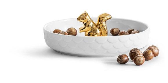 Egern serveringsskål i guld