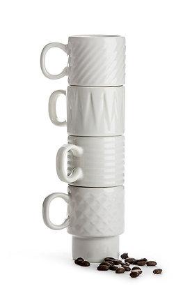 Coffee & More espressokrus - 4 pak - Flere farver