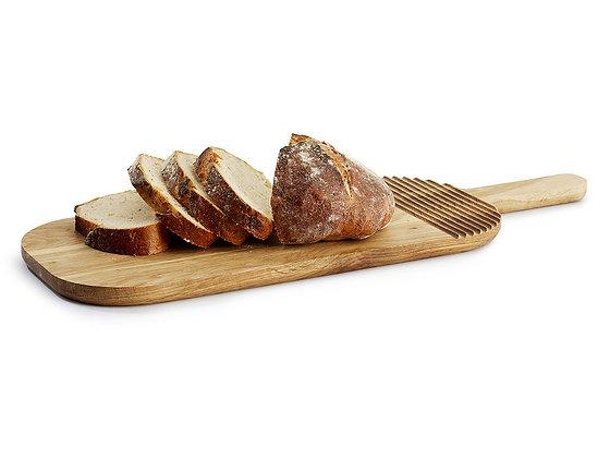Nature serverings-/skærebræt i oval