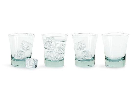 Vandglas i genbrugsglas 2-pak