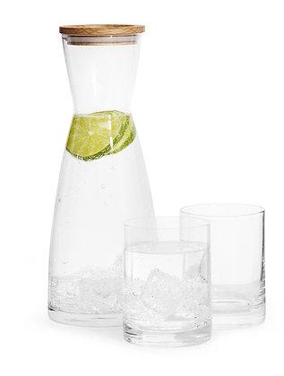 Vandkaraffel og 2-pak glas