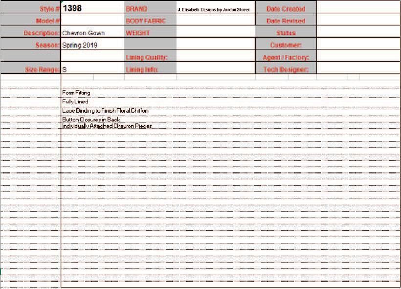 Spec Sheet 2 Comments
