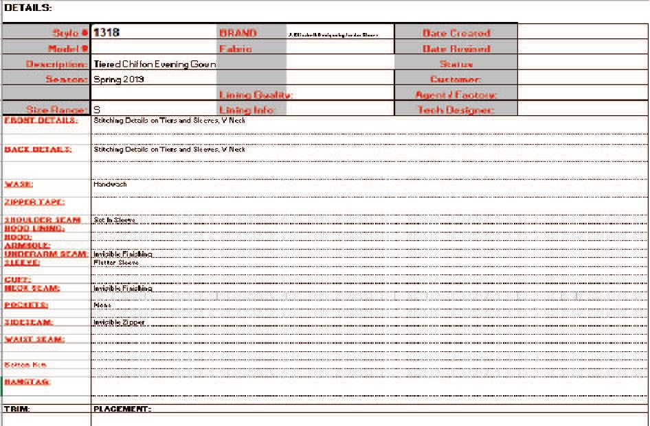 Spec Sheet 1 Details