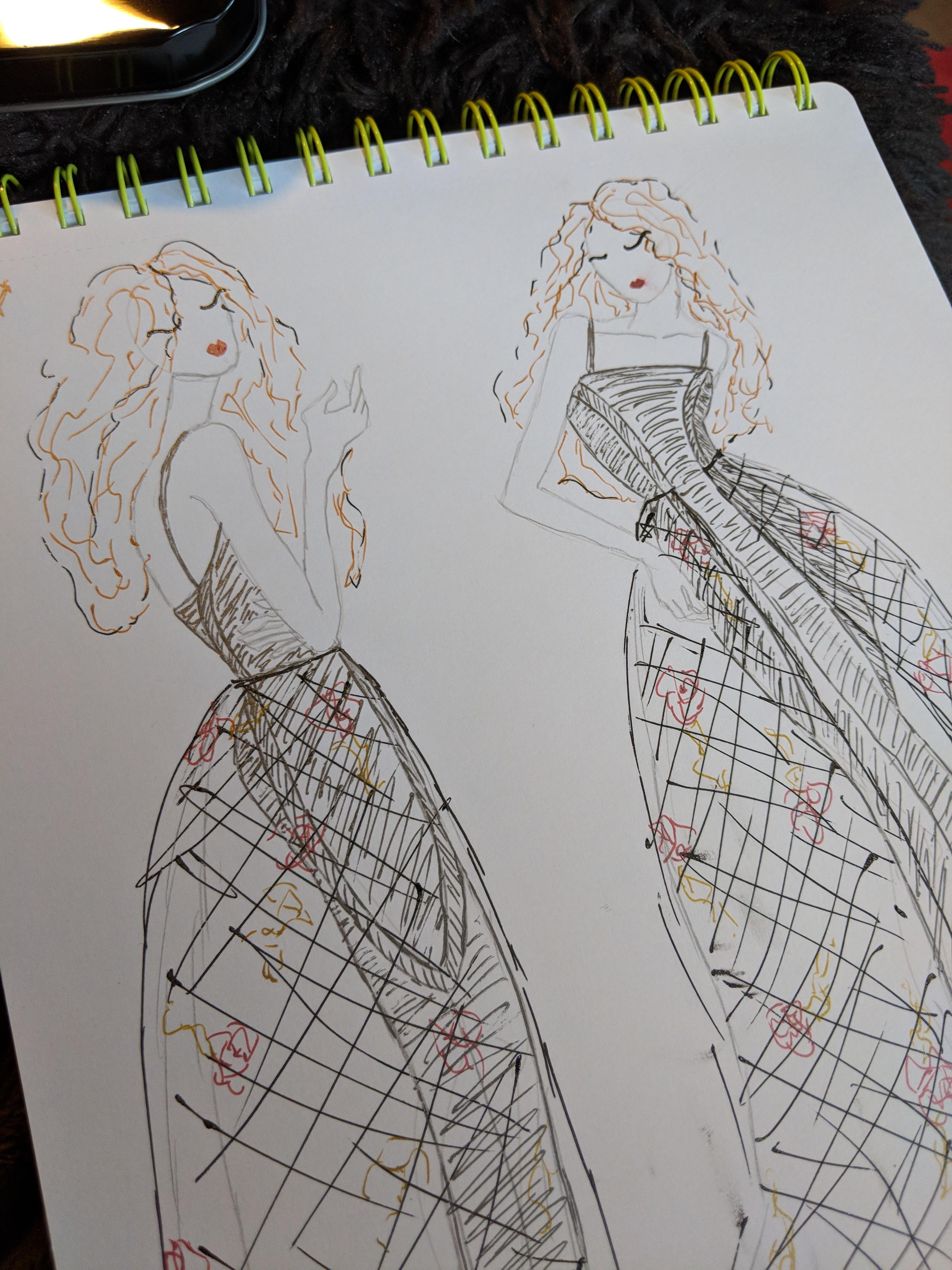 GrayDressSketch