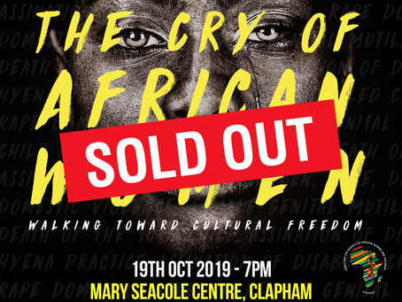 The Cry of African Women event SOLD OUT!!