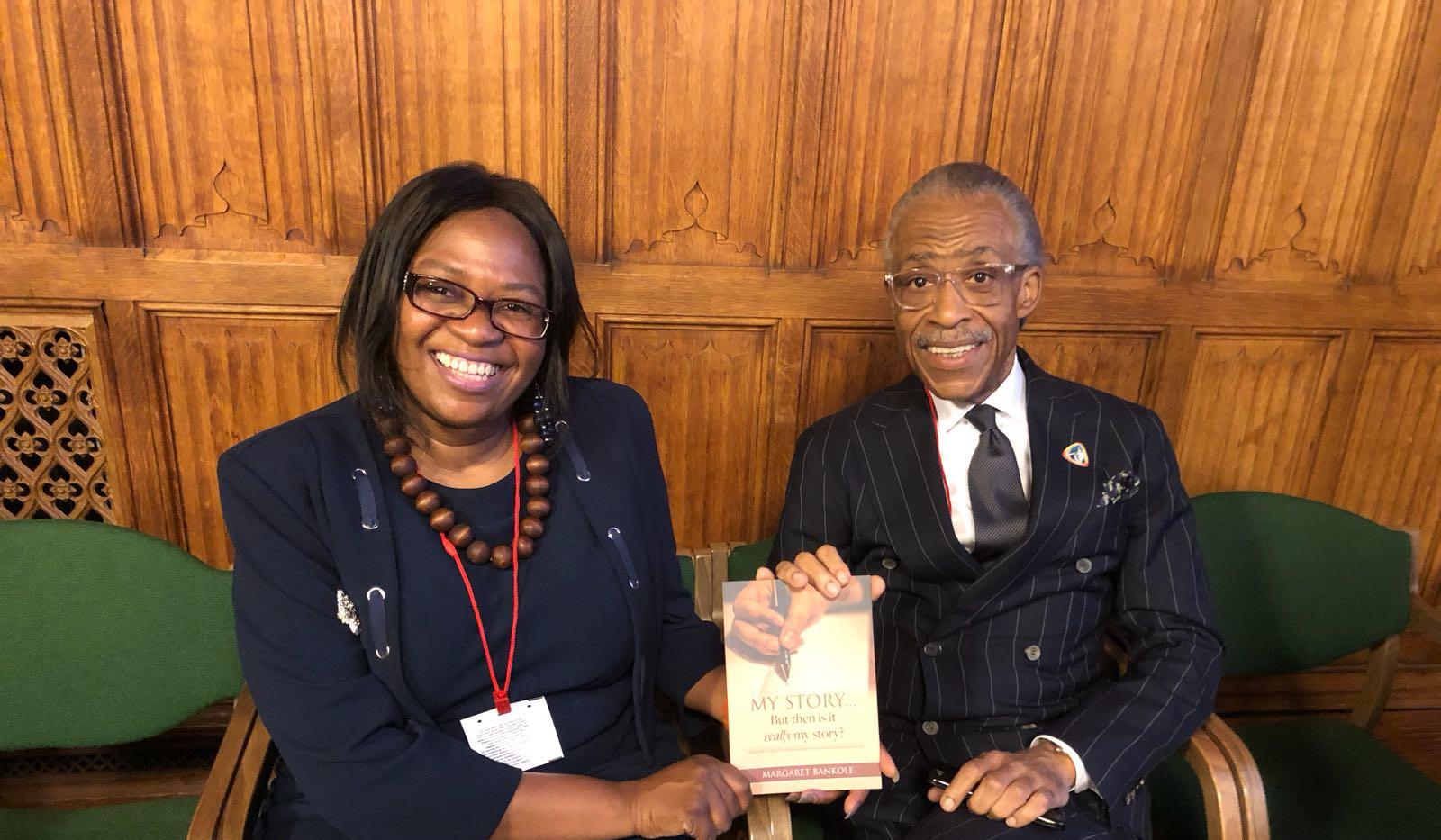 Margaret Bankole with Rev. Al Sharpton