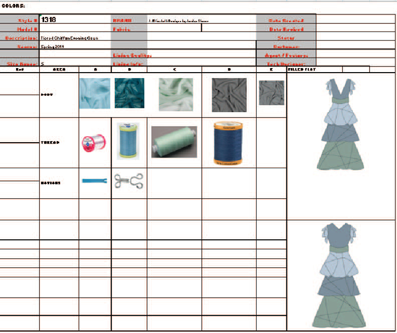 Spec Sheet 1 Fabrics