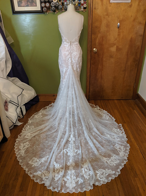 Hem for a Bridal Gown