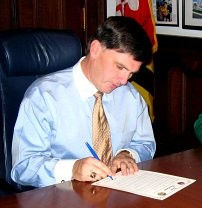 Governor Robert Ehrlich signs Citation