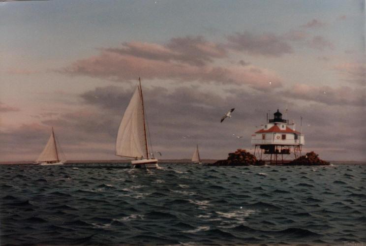 Original-Oil_Thomas-Point_Skipjacks
