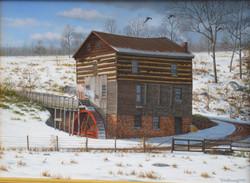 Original-Oil_Amos-Mill-in-snow