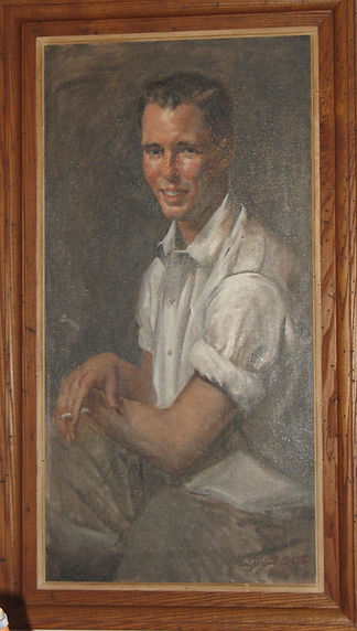 Portrait of David Turnbaugh - Original oil painting by Ann Schuler