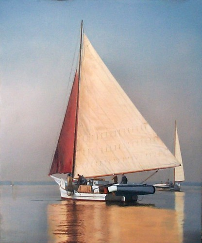 Original-Oil_Skipjack_Red-Sail