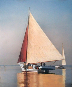 Original-Oil_Skipjack_Red-Sail