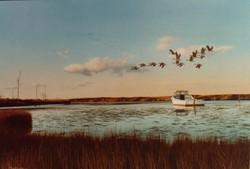 Original-Oil_Work-boat_Creek_Geese
