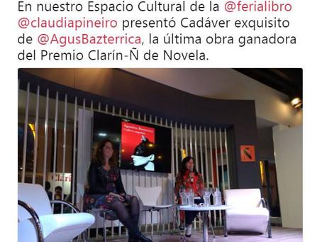 #Presentación / Claudia Piñeiro presenta #CadáverExquisto en La Feria del Libro de Buenos Aires
