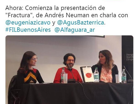 #Presentación / Fractura de Andrés Neuman en la Feria del Libro de Buenos Aires