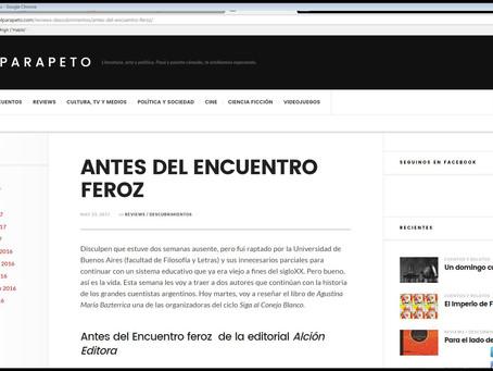 "Mercurio Sosa leyó ""Antes del encuentro feroz"""