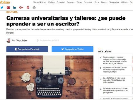 #Opinión / Talleres literarios para Infobae