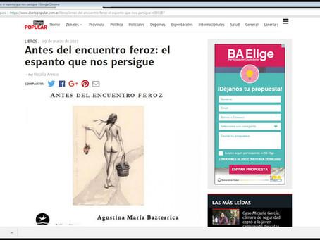 #Reseña / Natalia Arenas leyó Antes del encuentro feroz