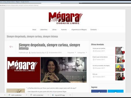 #Entrevista / Sandra Patricia Rey me entrevistó para Mégara.