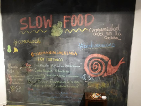 #Slow Food / Presentación de #CadáverExquisito junto a Gonzalo Bazterrica