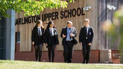 Harlington school students