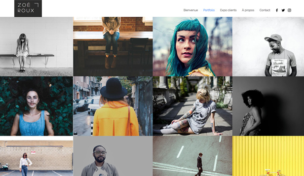 Populaires website templates – Photographe urbain